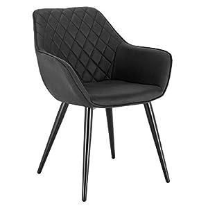 WOLTU Esszimmerstühle BH251an-1 1x Küchenstuhl Wohnzimmerstuhl Polsterstuhl mit Armlehen Design Stuhl Kunstleder Metall…