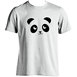 Oso panda T Shirt Funny Hombre Camiseta Silueta de imagen de panda gigante para hombre Wear garantía de 100% Satisfacción del Cliente Blanco blanco Medium