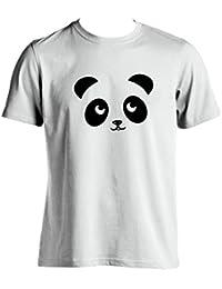 Oso panda T Shirt Funny Hombre Camiseta Silueta de imagen de panda gigante para hombre Wear garantía de 100% Satisfacción del Cliente