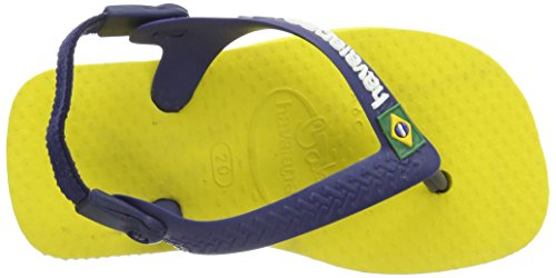Havaianas Zehentrenner Baby Brasil Logo Giallo Agrumi