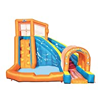 Bestway H2OGO Mega Bouncy Castle Water Park for Kids with Water Slide, Climbing Wall and Pool Area, Multi-Colour