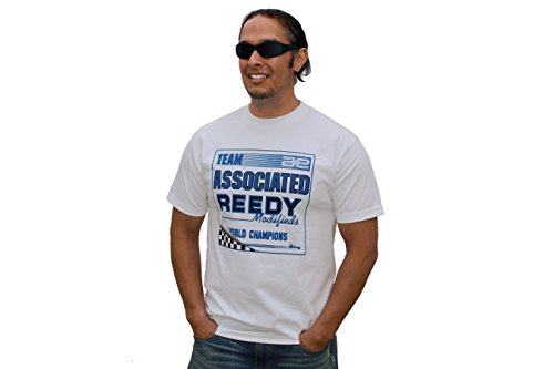 Team Associated AESP92XXXL - AE Retro T-shirt, Fahrzeug, 3X, weiß (Weiß T-shirt 3x)