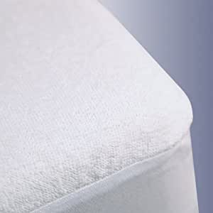 Trance Home Linen Cotton Terry Fabric Waterproof Single Size Mattress Protectors(White, 78x36-inch)