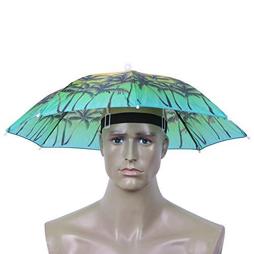 NELNISSA Nelissa Kopf-Regenschirm Angeln Anti-Sonnenschutz Wandern Unisex Hut Regenschirm Erwachsene Zubehör Kostüm Kleid, Coconut ()