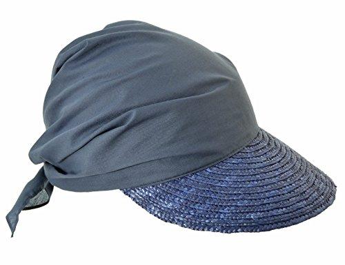 Seeberger Damen Schirmmütze Serie Rügen, Blau (Tinte 0068), 57 cm (Herstellergröße: One Size) (Damen-sommer-serie)