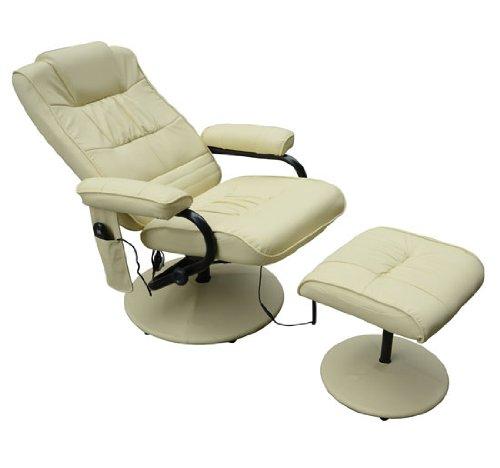 Homcom Fauteuil de massage vibration electrique relaxation avec chauffag