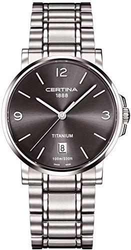Certina Herren-Armbanduhr XL Analog Quarz Titan C017.410.44.087.00