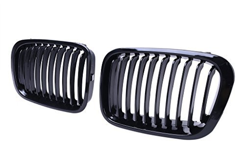 Jade Onlines Gloss Black Front Center Kidney Grille Grilles Grill Hood Nose for BMW 1998-2001 E46 Sedan 4 Door by Jade Onlines