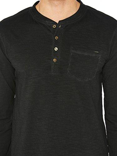 Colorado Denim Herren Langarmshirts Shauwn Schwarz (black 9000)