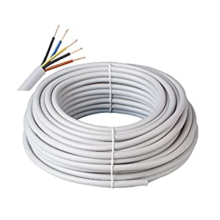Prysmian Kabelring NYM-J 3x1,5 300/500V, 100m, 5-adrige Mantelleitung, Installationskabel für den Einsatz im Mauerwerk/Beton, Stromkabel nach DIN Norm, Elektroleitung, elektrische Leitung