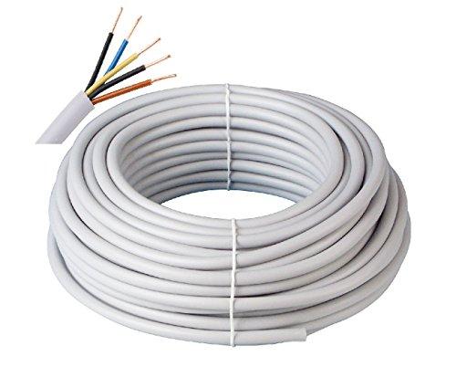Prysmian Kabelring NYM-J 5x1,5 300/500V, 100m, 5-adrige Mantelleitung, Installationskabel für den Einsatz im Mauerwerk/Beton, Stromkabel nach DIN Norm, Elektroleitung, elektrische Leitung