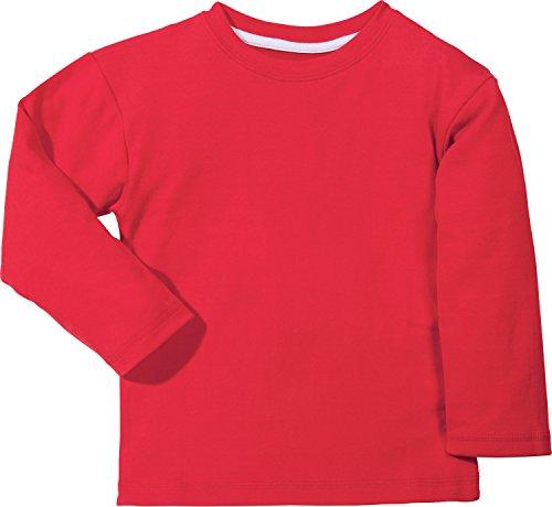 Kinderbutt Langarmshirt Interlock-Jersey Rot