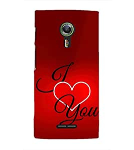 EPICCASE I Love You Mobile Back Case Cover For Alcatel One Touch Flash 2 (Designer Case)