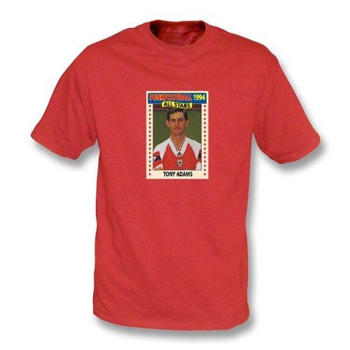 Arsenal-Rot-T-Shirt 1994 Tonys Adams Weiß