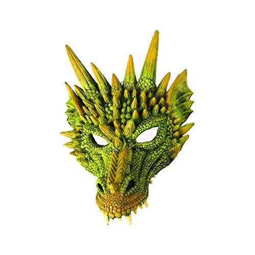 Verkauf Baby Kostüm Für Led - Oyedens Halloween Maske Led Halloween Drachenmaske Halloween Cosplay Scary Mask Kostüm für Erwachsene Party Dekoration Requisiten Creepy