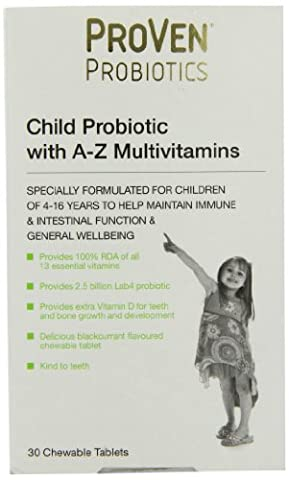 Vega Proven Child Probiotic with A-Z Multivitamins - Pack of 30 Chewable Tablets