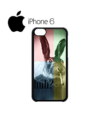 Smoking Weed Rabbit High Mobile Phone Case Back Cover Hülle Weiß Schwarz for iPhone 6 Plus White Weiß