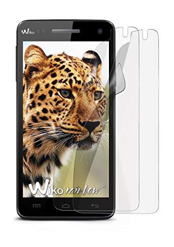2X Wiko Rainbow 4G   Schutzfolie Matt Bildschirm Schutz [Anti-Reflex] Screen Protector Fingerprint Handy-Folie Matte Bildschirmschutz-Folie für Wiko Rainbow 4G Bildschirmfolie