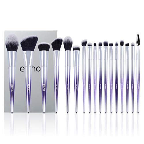 Amazon Marke: Eono Essentials Make Up Pinsel Set 17 Stücke Lila Farbe Professionelle Foundation Gesicht Lidschatten Eyeliner Textmarker Make-Up Pinsel Kits -