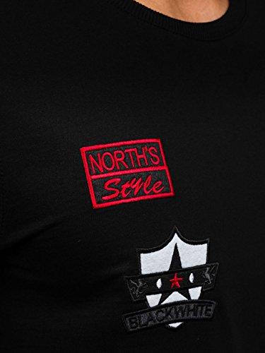 BOLF – Felpa senza cappuccio – Pullover – Sweat-shirt – Sport – Uomo [1A1] Nero