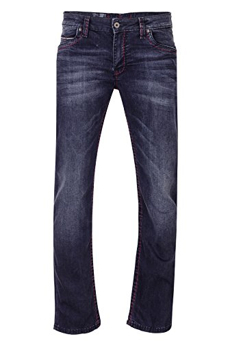 Comfort Fit Herren Jeans (Camp David Herren Jeans Straight Leg CO:NO:C622 BLACK USED COMFORT FIT, Farbe: Schwarz, Größe: 36/32)
