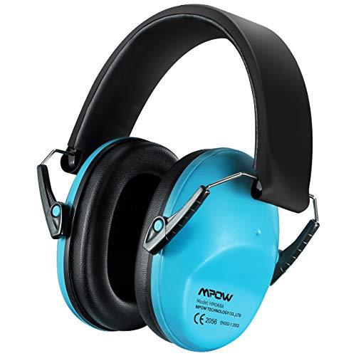 Mpow 068 Gehörschutz Kind, Ohrenschützer Kinder mit SNR 29dB Hörschutz, Faltbar Komfortabel Gehörschutz Kinder mit Tragbare Tasche, Lärmschutz Kopfhörer Kinder für Konzert, Kinder von 3 bis 12 Jahren