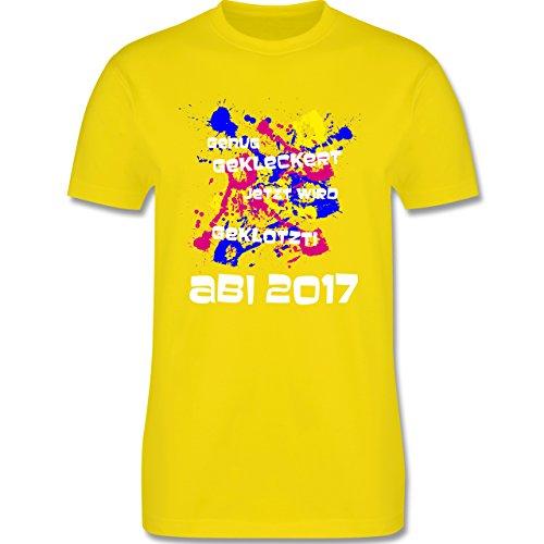 Abi & Abschluss - Jetzt wird geklotzt - Abi 2017 - Herren Premium T-Shirt Lemon Gelb