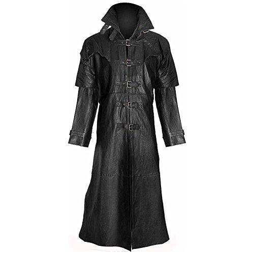 LEATHER FASHIONS Herren Mantel schwarz schwarz Gr. X-Large, schwarz
