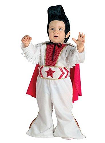 Kostüm Elvis für Kleinkinder, Baby Kostüm Rockstar, Größe:74 (Jungen Rockstar Kostüm Ideen)