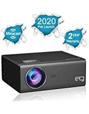 EG Miracast 6X LED Projector Full HD 1080p Supported , in-Built Wireless Mirroring for Smartphone , USB, HDMI X 2, VGA, AV, Home Theatre ( 2020 Pre Launch )