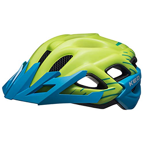 KED Status Jr. Helmet Kids Green Blue matt Kopfumfang M | 52-59cm 2019 Fahrradhelm