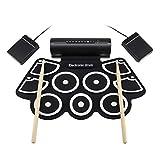 Mkxiaowei Trommel Silikon Drum Rack neun-Gesicht Schlagzeug Jazz Trommel Trommel von Handy-Regal mit MIDI-Funktion eingebauter Lautsprecher USB-elektronische Drum