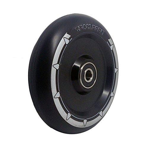 einzeln Team Dogz 100mm & 110mm UFO hohl Kern Roller Rad ABEC11 passt auch für MGP Stumpf Slamm Rasiermesser Crisp Körnung usw. - schwarz Core mit schwarzem Kunststoff, 100mm Paar 100 Mm Roller Räder