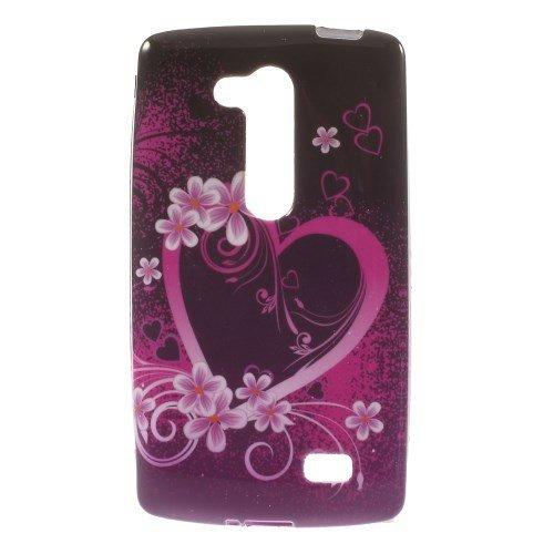 jbTec® TPU-Case / Hülle zu LG L Fino / D295 - MOTIV - Handy-Schutzhülle, Motiv / Muster:Herz & Blumen H02