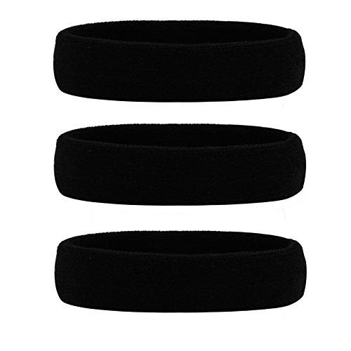 HANERDUN Sport Stirnband Damen Herren Schweißbänder Kopf Stirn Baumwolle Frottee Kopfband Sport für Laufen Fahrrad Joggen Tennis Fußball -