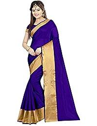 Sarees (Deepjyoti Creation Cotton Silk Sarees-Dpssss1146Minicablue)