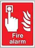 Caledonia segni 21010K allarme antincendio segno, vinile autoadesivo, 400mm x 300mm