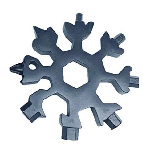Zerama 18 IN 1 Snowflake Outdoor-Survival-Tourismus Multi-Werkzeug-Edelstahl Campingausrüstung EDC Miniwerkzeug
