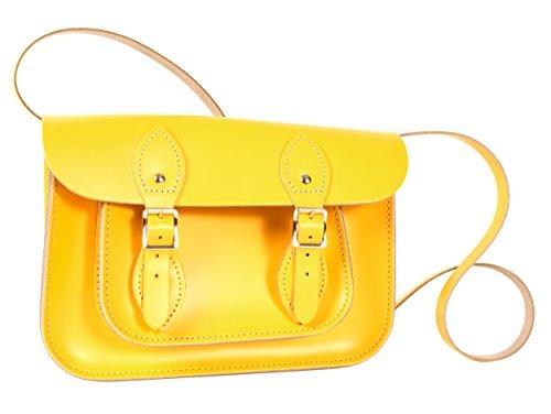 Oxbridge Satchel Shop, Cartable pour Femme jaune petit