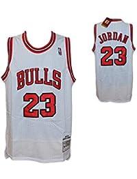 Canotta Bianca NBA Retro Vintage - Michael Jordan - Chicago Bulls - Taglia  S- HARDWOOD c73dcf9af985