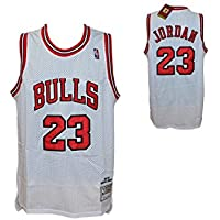 Canotta Bianca NBA Retro Vintage - Michael Jordan - Chicago Bulls - Taglia S- HARDWOOD CLASSICS (L)