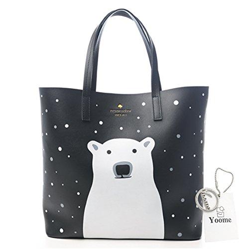 Kostüm Polar Bear Cute (Yoome Polar Bears Girls Taschen für College Cute Taschen für Mädchen Top Handle Tote Elegant Taschen für)