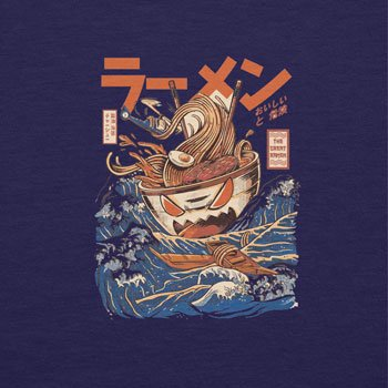NERDO - The Great Ramen - Herren Kapuzenpullover Navy