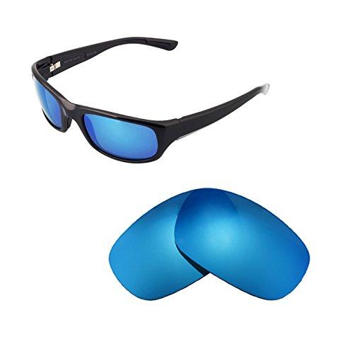 Walleva Ersatzgläser für Maui Jim Stingray Sonnenbrille - Mehrfache Optionen (Eisblau beschichtet - polarisiert)