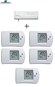 funk empf nger regelklemmleiste f fu bodenheizung 5xdigital raumthermostat baumarkt. Black Bedroom Furniture Sets. Home Design Ideas