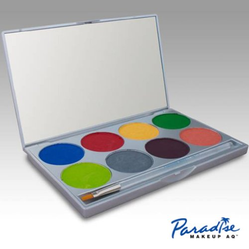 Paradise 8 Color Palette/face Paint Kit (Tropical Rainbow) by Mehron by Mehron