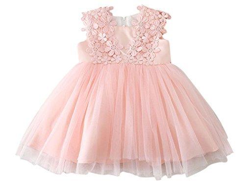 fb4345cde45 Happy Cherry Robe de Cérémonie Bébé Fille Sans Manches Couches Polyester  Tulle Robe de Princesse pour