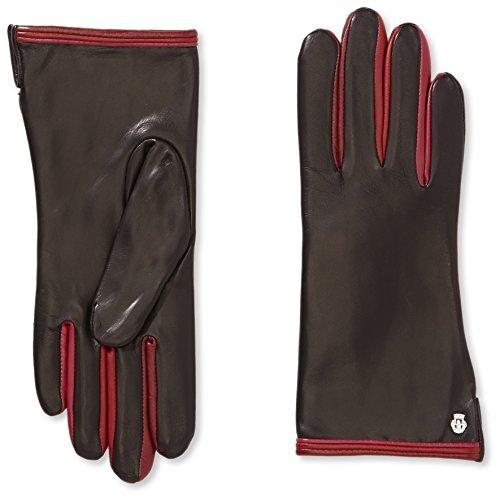 Roeckl Damen Handschuhe Colour Mix, Mehrfarbig, Gr. 8, Schwarz (multi ruby 466)
