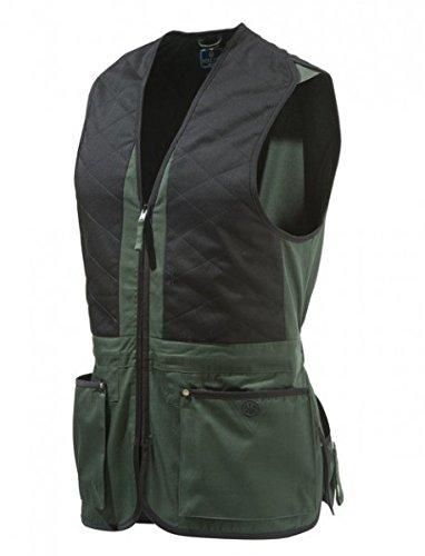 Beretta Schießweste Trap Unisex Schwarz-Grün Cotton Vest, Größen:XL -
