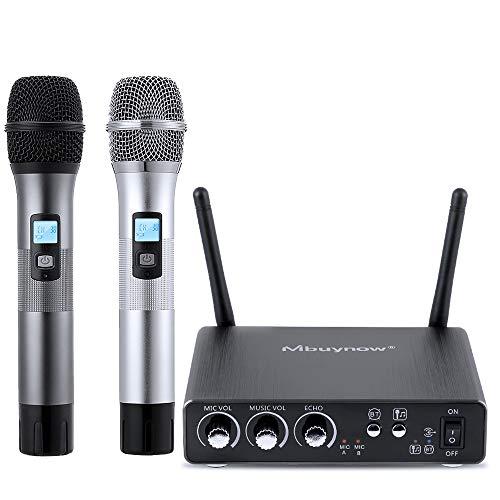 Wirelessre Mikrofon Set, Mbuynow kabellos bluetooth mikrofon mit Empfängerbox Kabellos Mikrofon mit 25 Kanal